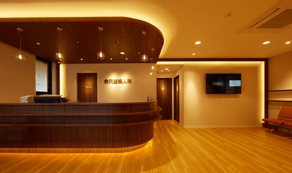 株式会社クスクスが内装デザインした産婦人科会沢クリニックの竣工写真
