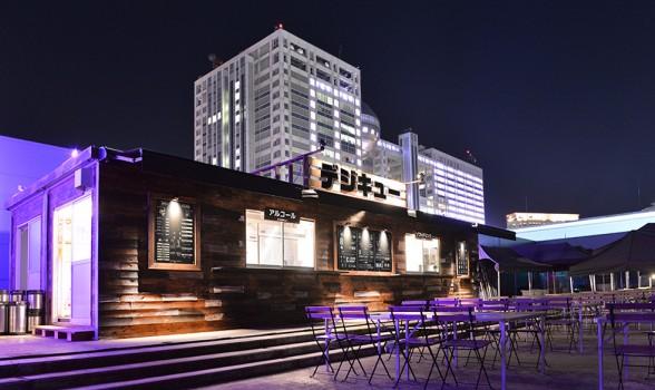 株式会社クスクスが設計デザインしたバーベキュー会場DECKS Tokyo Beach