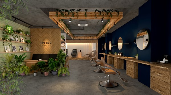 株式会社クスクスがデザインを手がけた学芸大学前の美容室