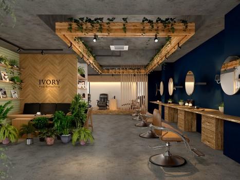 鎌倉のデザイン事務所クスクスが内装設計した美容室アイアム